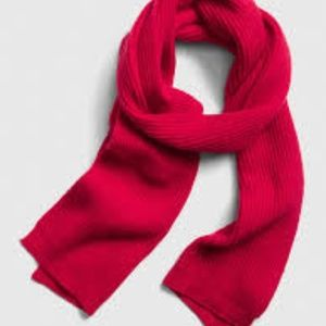 GAP Ribbed Red Sweater Scarf NWT
